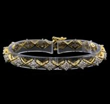 3.50 ctw Diamond Bracelet - 14KT White and Yellow Gold