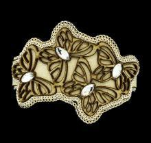 Crystal Butterfly Bracelet - Gold Plated