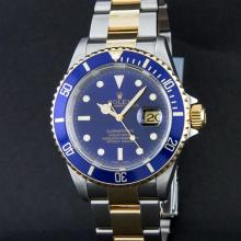 Rolex Two Tone Blue Submariner Men's Watch