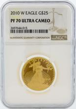 2010-W NGC PF 70 Ultra Cameo $25 American Eagle Gold Coin