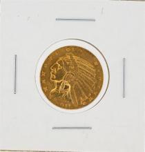 1911 $5 XF Indian Head Half Eagle Gold Coin