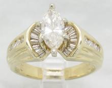 1.44 ctw Diamond Ring - 14KT Yellow Gold