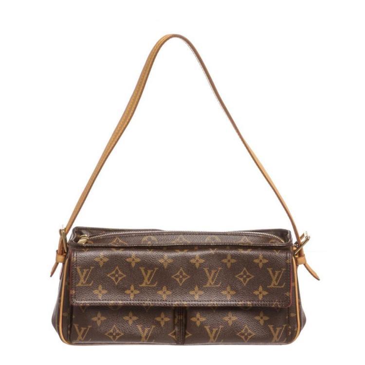 Louis Vuitton Monogram Canvas Leather Viva Cite MM Bag