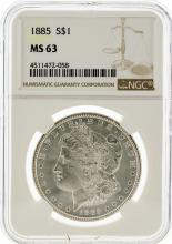 1885 NGC MS63 Morgan Silver Dollar