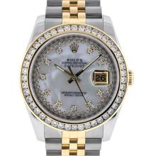 Rolex Two-Tone 2.30 ctw Diamond DateJust Men's Watch