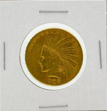 1909-S $10 AU Indian Head Eagle Gold Coin