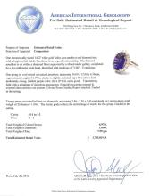 6.97 ctw Amethyst and Diamond Ring - 14KT White Gold