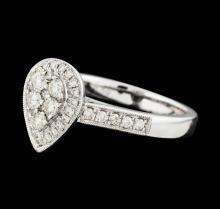 0.59 ctw Diamond Ring - 14KT White Gold