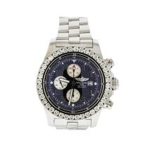 Breitling Stainless Steel 6.00 ctw Diamond Super Avenger Men's Watch