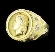 0.80 ctw Diamond Ring - 18KT Yellow Gold