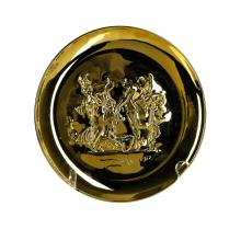 Sterling Silver Salvador Dali 1972 Annual Plate from the Lincoln Mint