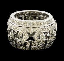 3.42 ctw Diamond Ring - 18KT White Gold