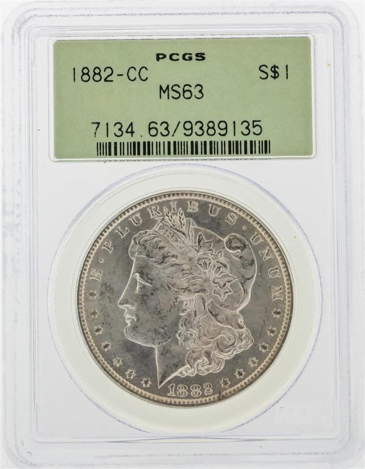 1882-CC PCGS MS63 $1 Morgan Silver Dollar