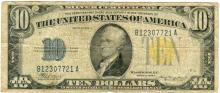 1934 $10 Fine North Africa Silver Certificate Currency