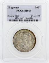 1924 PCGS MS64 Huguenot Silver Half-Dollar