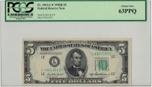 1950B PCGS CN 63PPQ $5 Federal Reserve Note