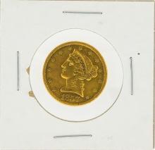 1857 $5 No Motto XF Liberty Head Half Eagle Gold Coin