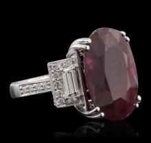 18KT White Gold 12.59 ctw Ruby and Diamond Ring
