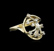0.22 ctw Diamond Ring - 14KT Yellow and White Gold