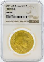 2008-W NGC MS69 $50 American Buffalo Gold Coin
