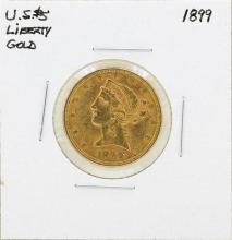 1899 $5 Liberty Head Half Eagle Gold Coin