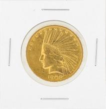 1908 $10 Indian Head Gold Coin XF