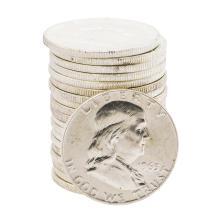 Roll of (20) 1963-D Brilliant Uncirculated Franklin Half Dollar Coins
