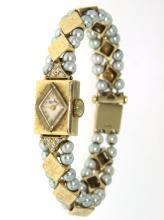 14KT Gold Lucien Piccard Ladies Watch