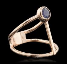 14KT Rose Gold 0.55 ctw Sapphire Ring
