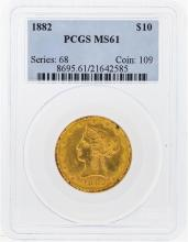1882 PCGS MS61 $10 Liberty Head Eagle Gold Coin