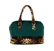 Green and Leopard Handbag