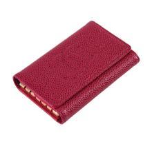 Chanel Pink Leather Key Holder