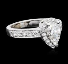 14KT White Gold GIA Certified 1.53 ctw Diamond Ring