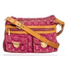 Louis Vuitton Pink Denim Monogram Baggy PM Shoulder Bag