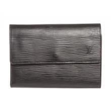 Louis Vuitton Black Epi Leather Porte Tresor International Wallet