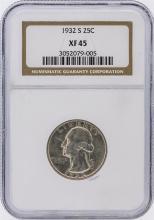 1932-S NGC XF45 Washington Quarter