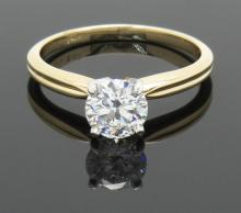 GIA Cert 0.71 ctw Diamond Ring - 14KT Yellow Gold