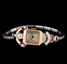 Beleco 14KT Two-Tone Gold Diamond Ladies Vintage Watch