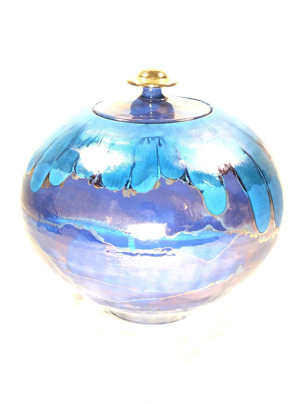 Bruce Fairman Lidded Pottery Luster Glaze