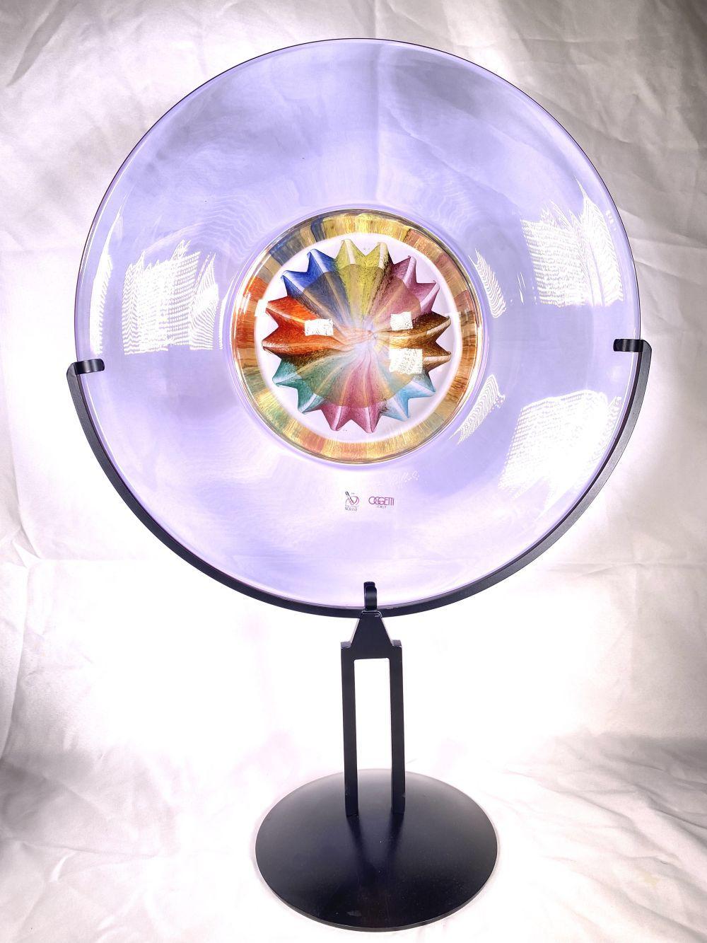 """Oggetti Murano Italy """" Elio Raffael """" Artist Signed Glass Sculpture Seguso"""