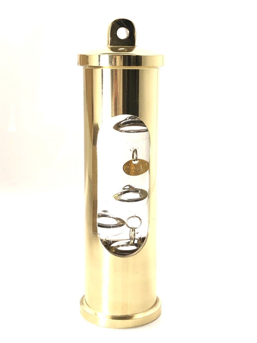 Danish Copenhagen Brass Galileiglass with Wall Mount in Original Box
