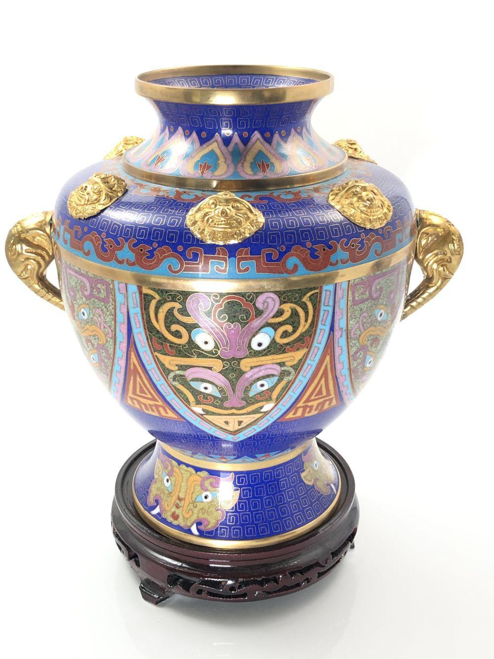 Asian Cloisonne Vase, Xiang Er Zun