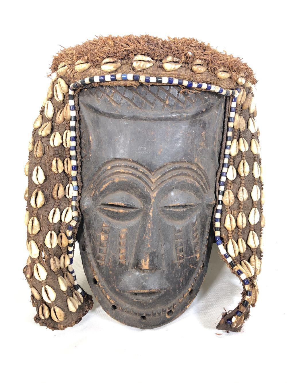 Pwo African Angola Hand Carved Chokwe Mask