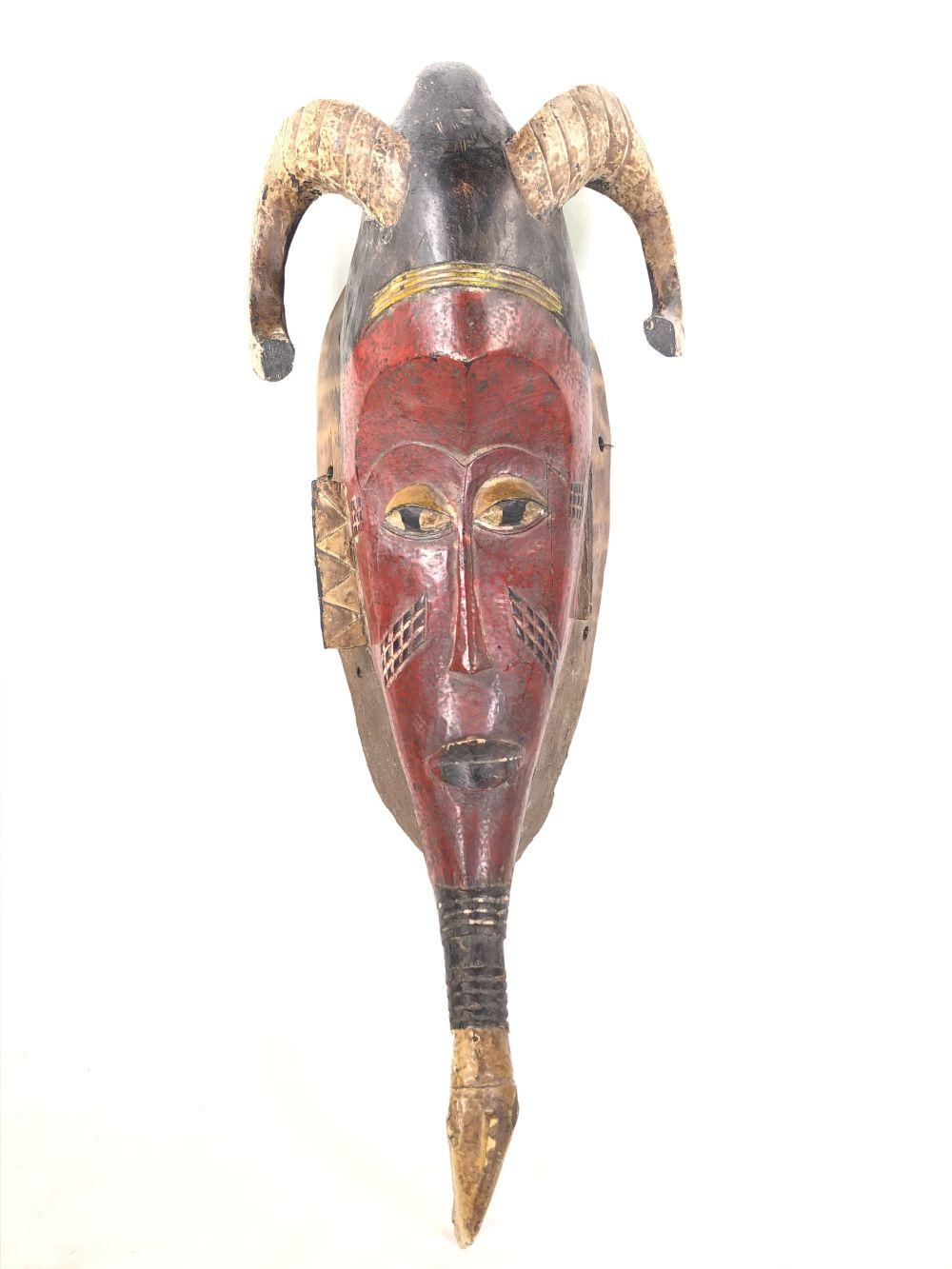 Guro Ivory Coast Red Horn Mask