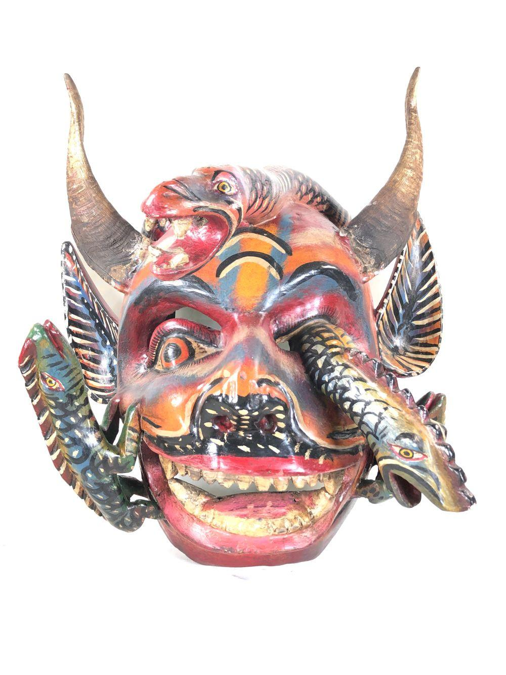 Mid 20th C. Mexican Wood Carved Ceremonial Mask