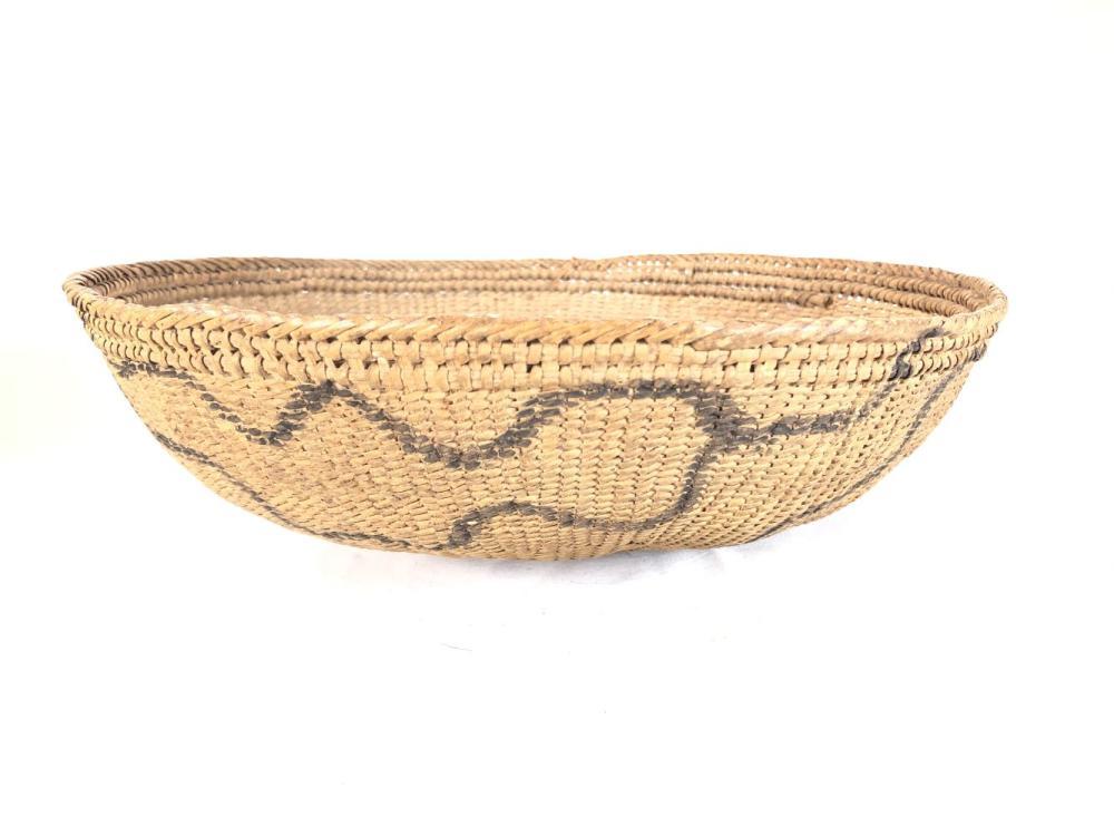 Vintage African Food Coil Basket w/ Devils Claw
