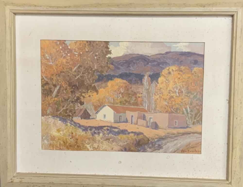 Carl Von Hassler 1887-1969 Original Oil on Board