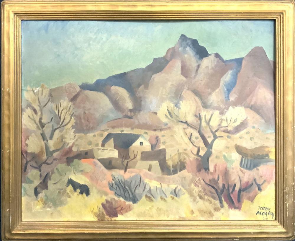 Loren Norman Mozley 1905-1989 Original Oil on Board