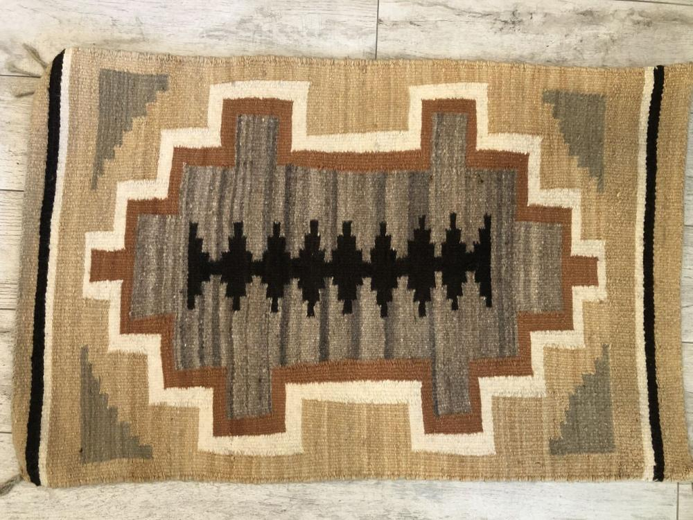 Vintage Native American Hand Woven Rug
