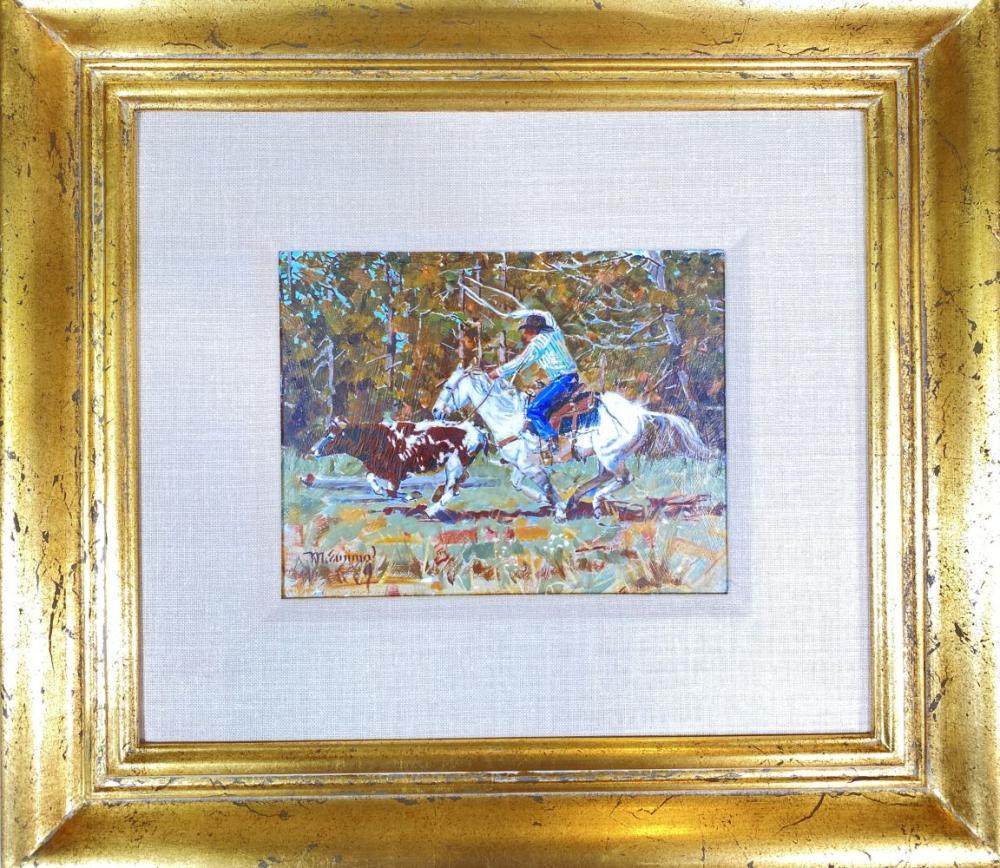 "Michael Ewing ""Breakaway"" Original Oil on Board Painting"